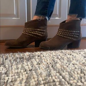 Jessica Simpson Jeweled Boots Brown Suede 9.5